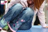 Jeans Freihand aufgepeppt bei smilla