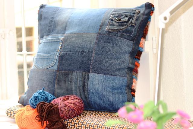 kuschelkissen aus wollresten und alter jeans!   smillablog, Design ideen