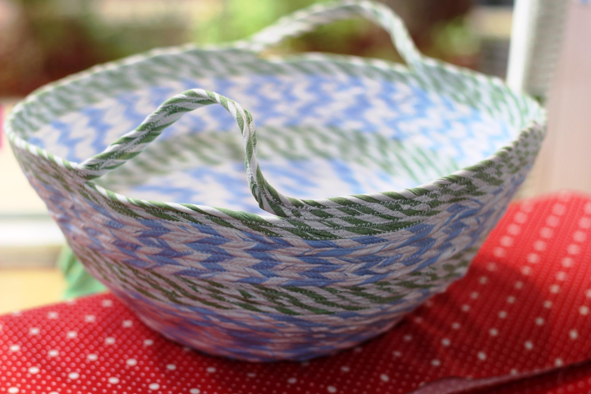 Schale gestreift nach rope bowl Anleitung von smilla