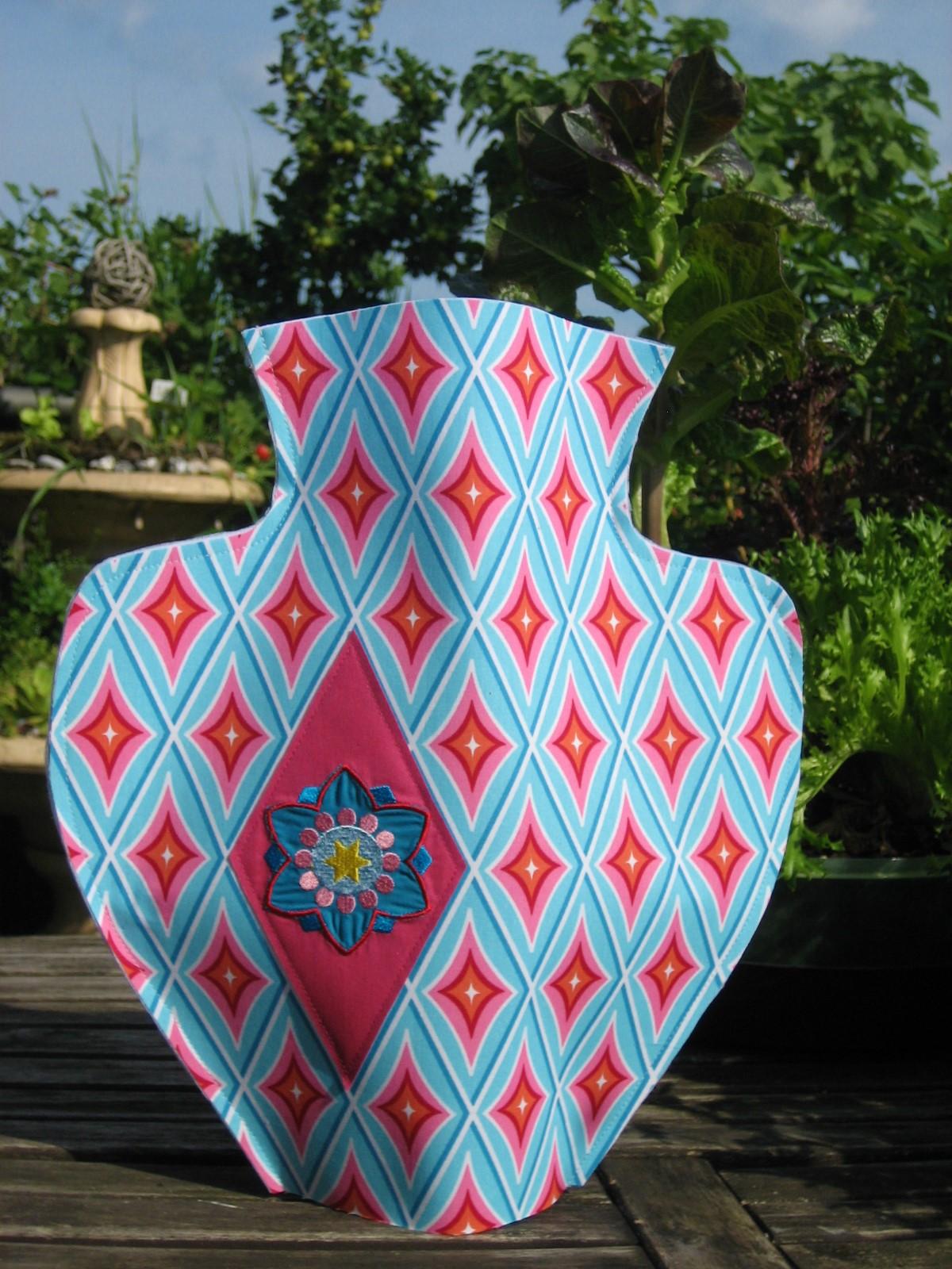 DIY Vasenhusse aus Stoff nähen